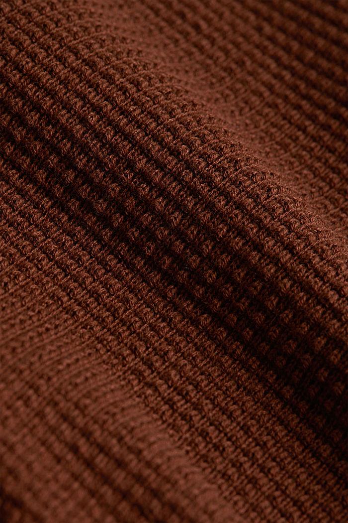 Cardigan mit Organic Cotton, BROWN, detail image number 4