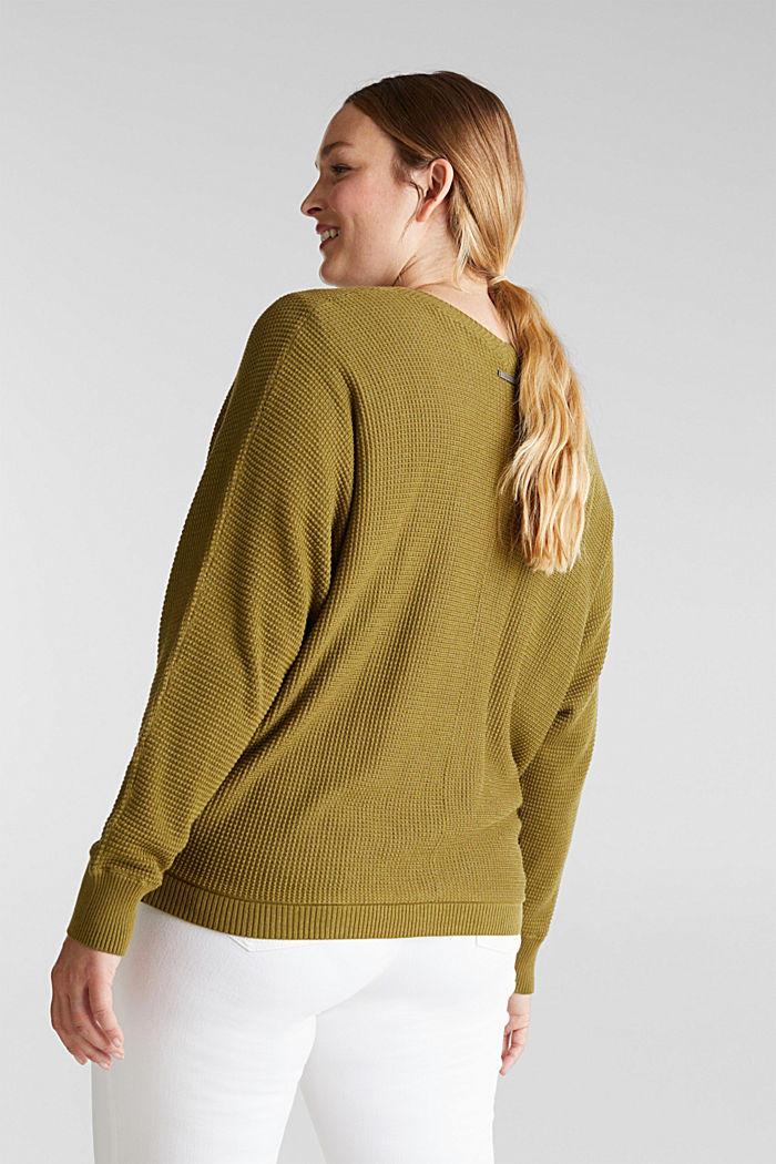 Cardigan with organic cotton, OLIVE, detail image number 3