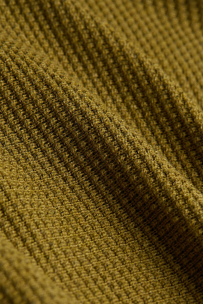 Cardigan with organic cotton, OLIVE, detail image number 4