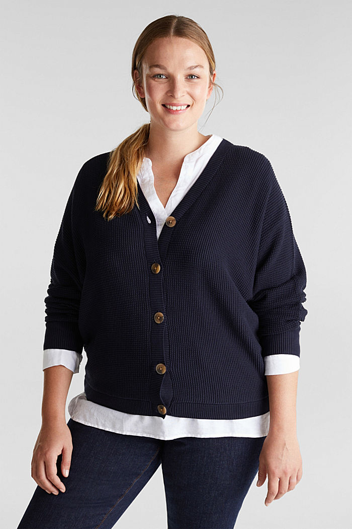 Cardigan with organic cotton