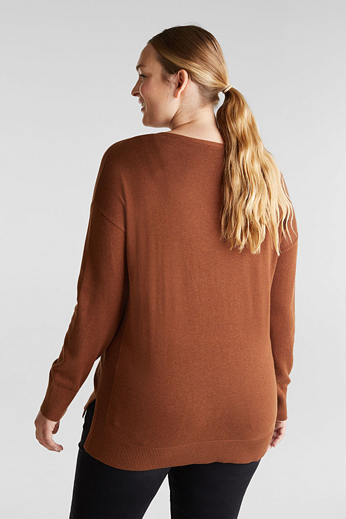CURVY jumper with organic cotton, TOFFEE, detail image number 3