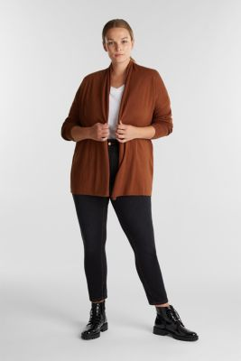 Curvy cardigan made of 100% organic cotton, TOFFEE 5, detail