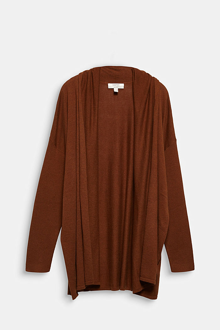 Curvy cardigan made of 100% organic cotton, TOFFEE, detail image number 7