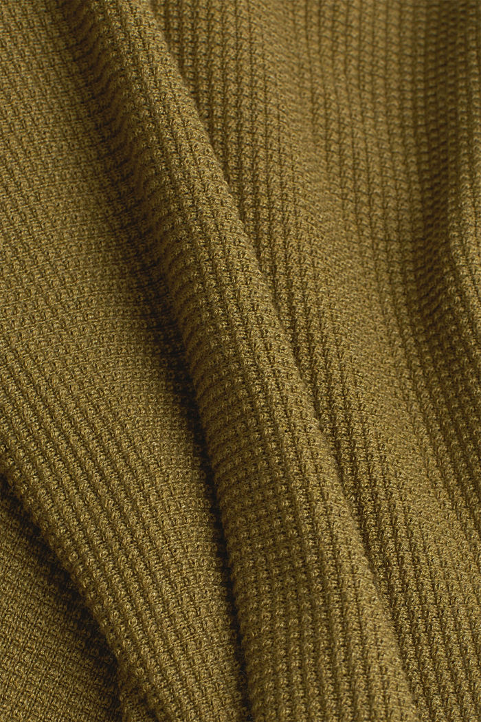 Hoodie with organic cotton, OLIVE, detail image number 4