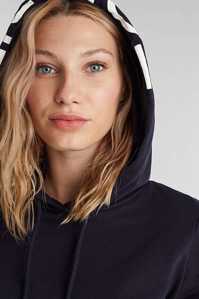 Hoodie made of 100% organic cotton, NAVY, detail image number 5