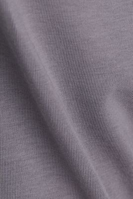 Long sleeve top with organic cotton, GUNMETAL 4, detail