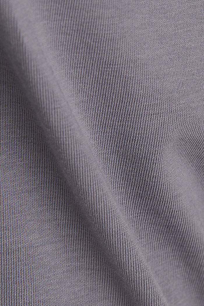 Long sleeve top with organic cotton, GUNMETAL, detail image number 4