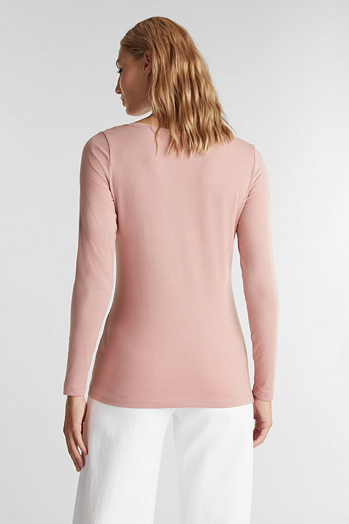 Long sleeve top with organic cotton, OLD PINK, detail image number 3