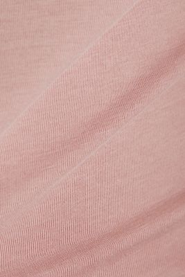 Long sleeve top with organic cotton, OLD PINK 4, detail