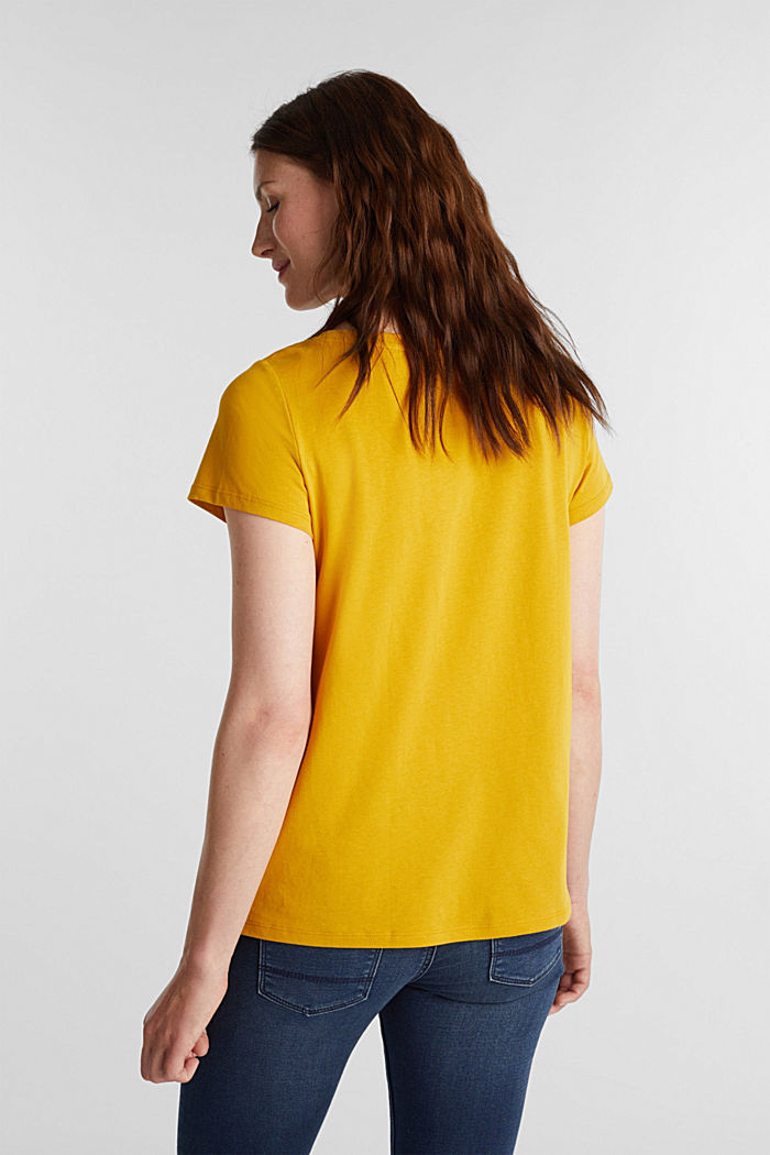 Recycled: 100% cotton T-shirt, BRASS YELLOW, detail image number 3
