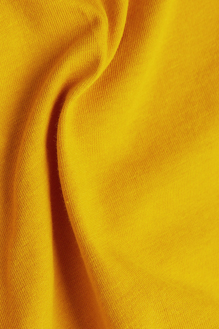 Recycled: 100% cotton T-shirt, BRASS YELLOW, detail image number 4
