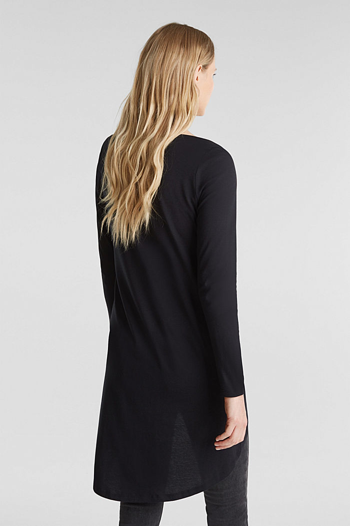 Long top with organic cotton, BLACK, detail image number 3
