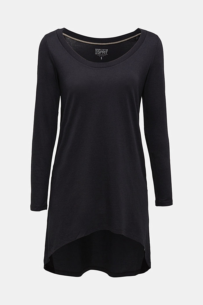 Long top with organic cotton, BLACK, detail image number 6