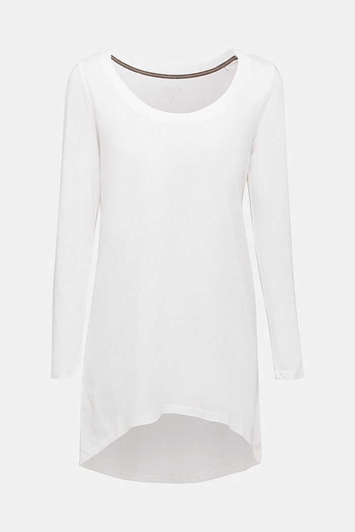Long top with organic cotton, OFF WHITE, detail image number 6
