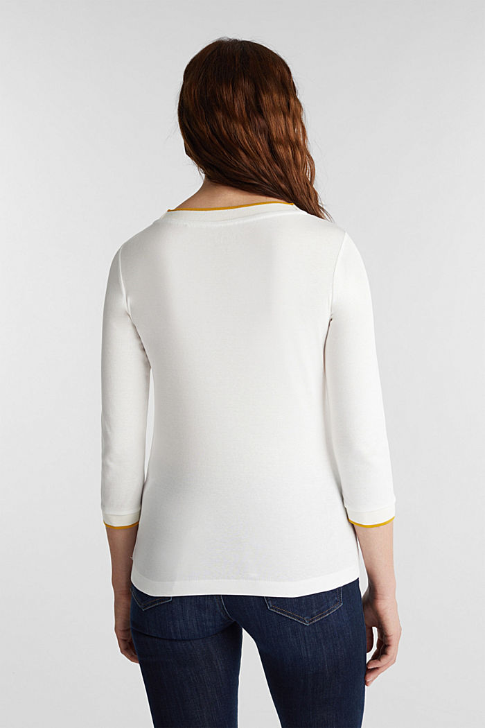 Jersey top made of 100% organic cotton, OFF WHITE, detail image number 3