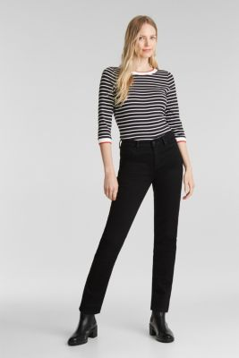 Striped top made of 100% organic cotton, BLACK, detail