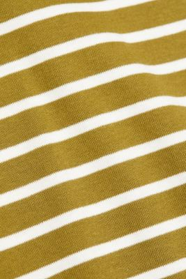 Striped top made of 100% organic cotton, OLIVE, detail