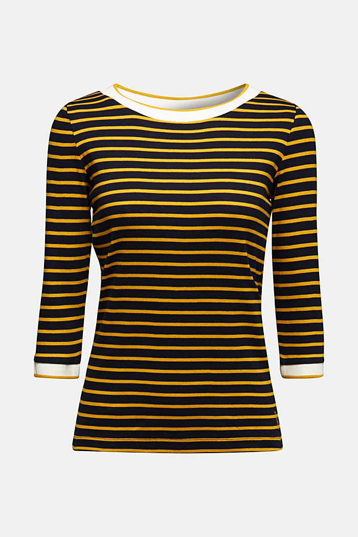 Striped top made of 100% organic cotton, NAVY, detail image number 5