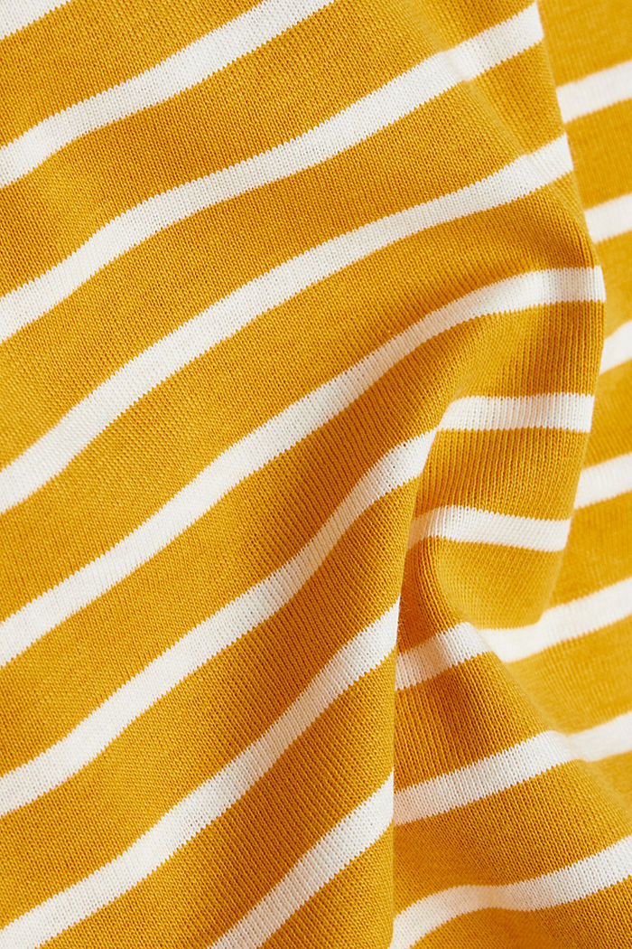 Striped top made of 100% organic cotton, BRASS YELLOW, detail image number 4