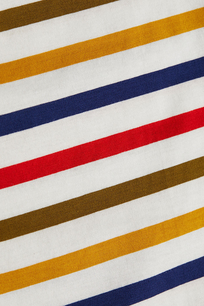 Striped top made of 100% organic cotton, OFF WHITE, detail image number 4