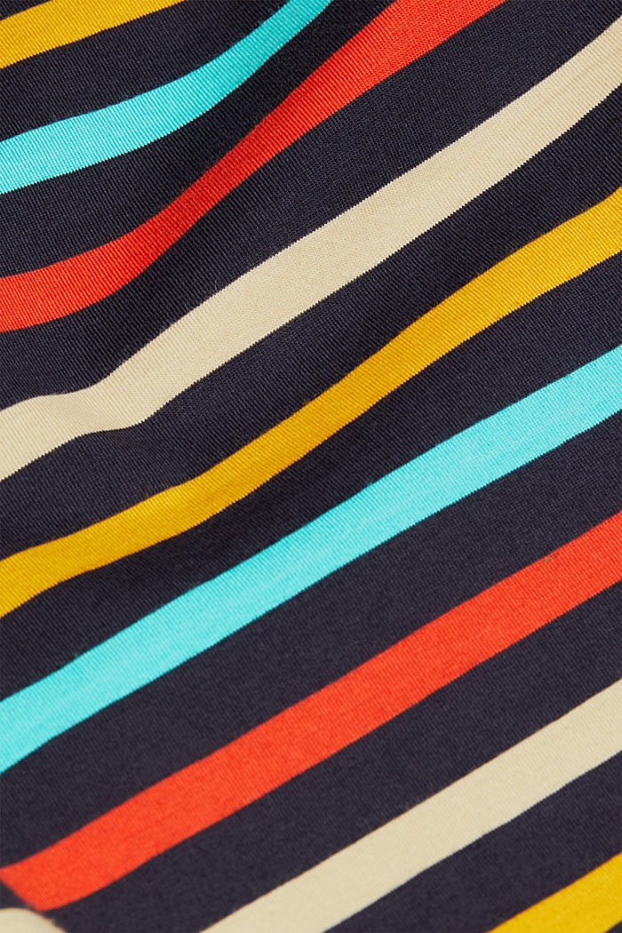 Striped top made of 100% organic cotton, NAVY, detail image number 4