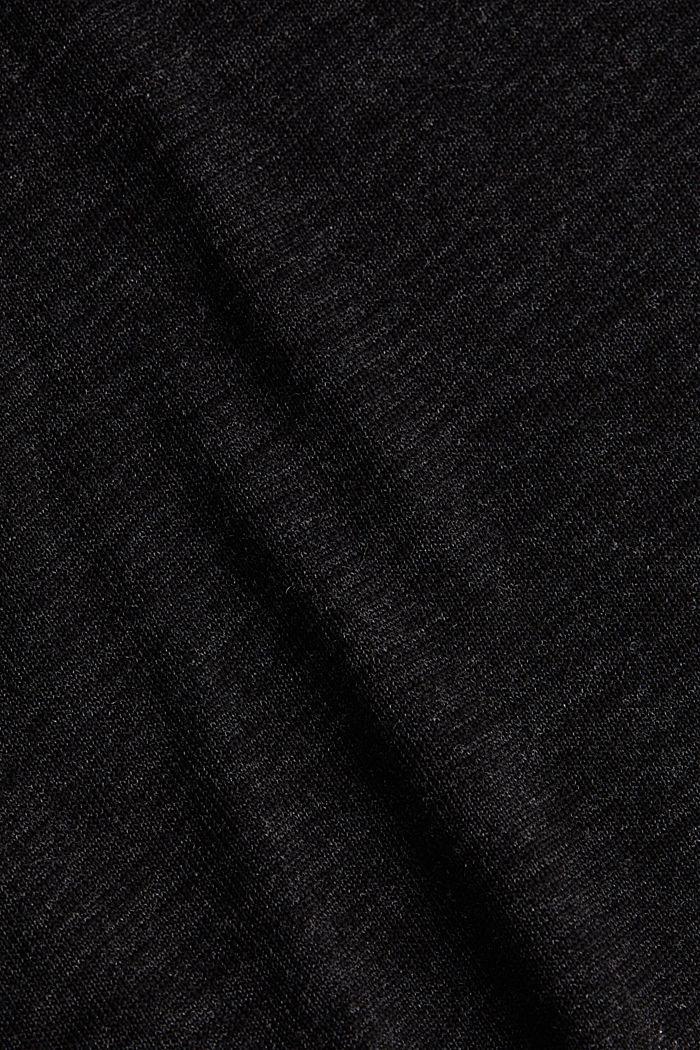 Jersey top with glittering fibres, BLACK, detail image number 4