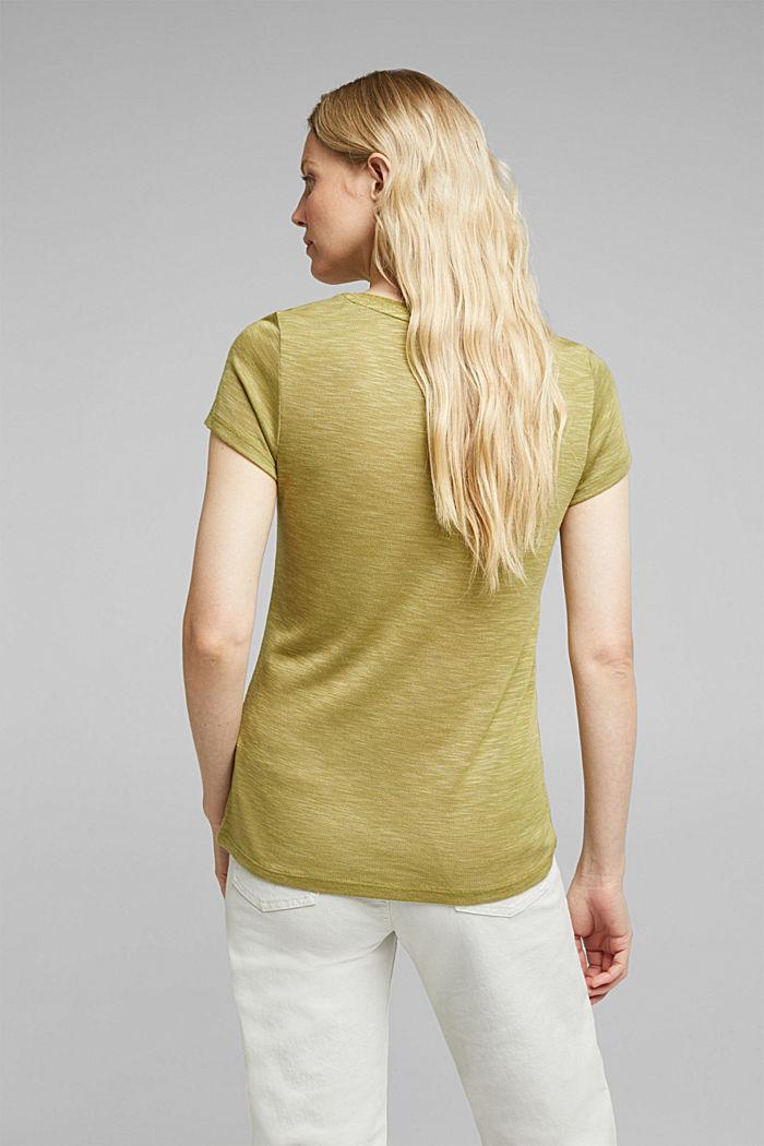 Jersey-Shirt mit Glitzer-Fäden, OLIVE, detail image number 2