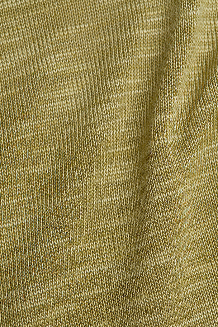 Jersey top with glittering fibres, OLIVE, detail image number 3