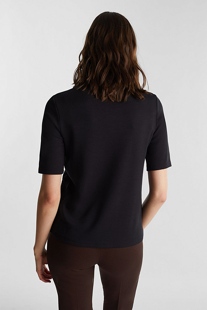 Jersey-Shirt mit Turtle Neck, BLACK, detail image number 3