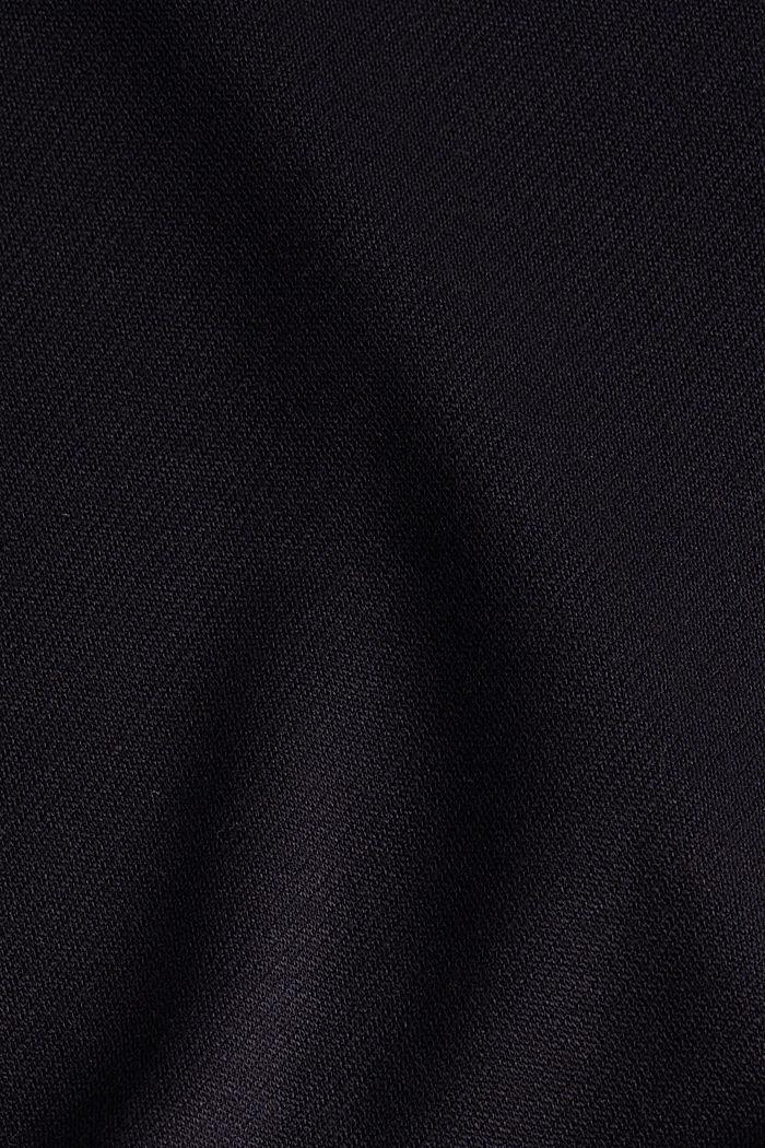 Jersey-Shirt mit Turtle Neck, BLACK, detail image number 4