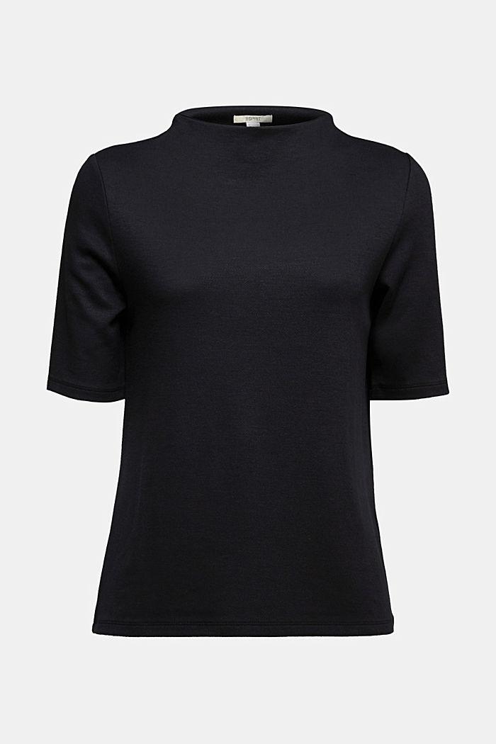 Jersey-Shirt mit Turtle Neck, BLACK, detail image number 5