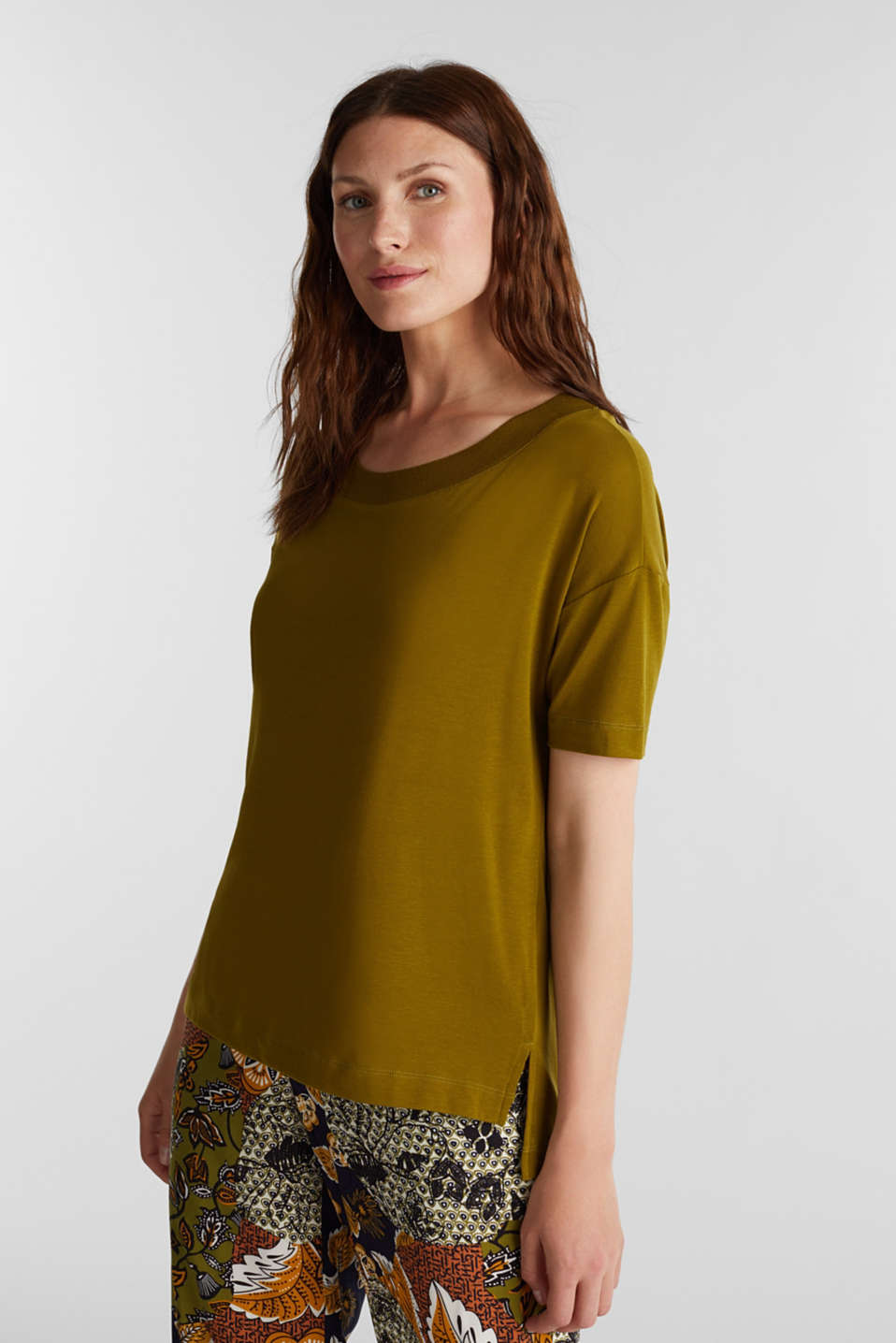 Esprit - 2nd Skin T-Shirt aus Lyocell-Stretch