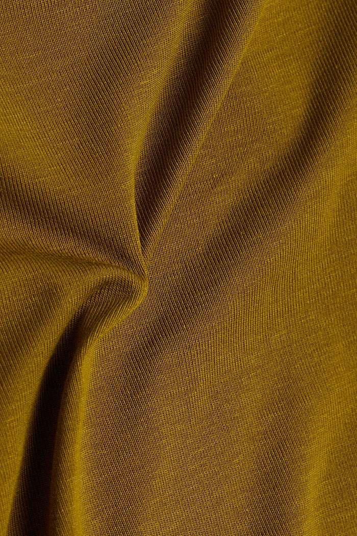 2nd skin T-shirt made of stretch lyocell, OLIVE, detail image number 4