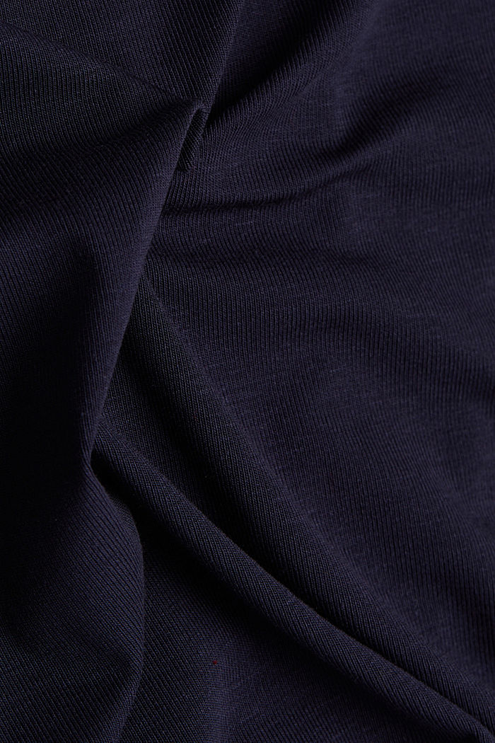 2nd Skin T-Shirt aus Lyocell-Stretch, NAVY, detail image number 3