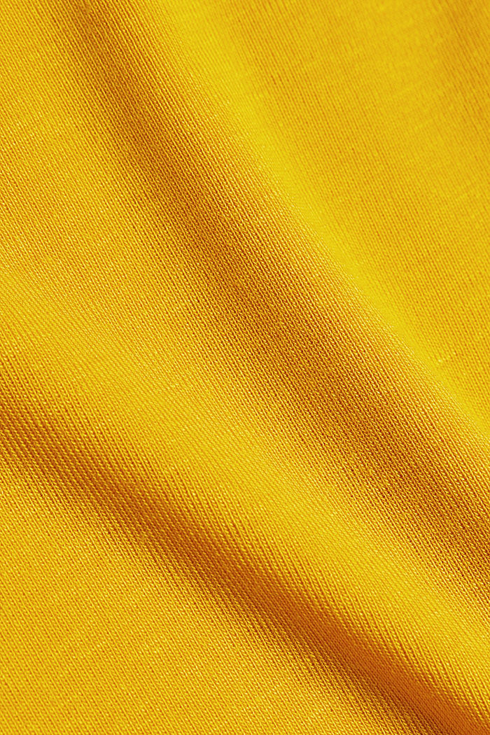 2nd skin T-shirt made of stretch lyocell, BRASS YELLOW, detail image number 4