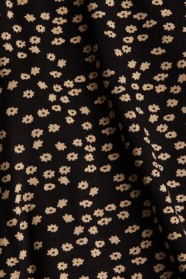 Long sleeve top with a bow detail, BLACK, detail