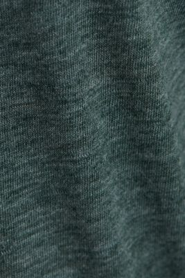 Melange long sleeve top with a bateau neckline, DARK GREEN 4, detail