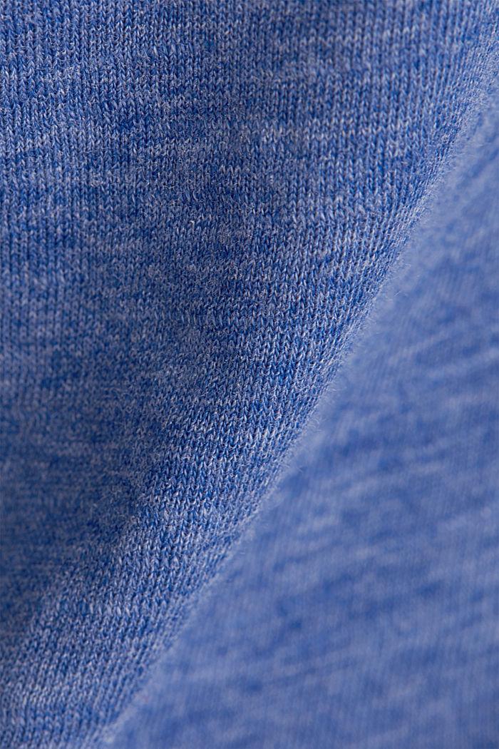 Camiseta de manga larga jaspeada con cuello barco, BRIGHT BLUE, detail image number 4