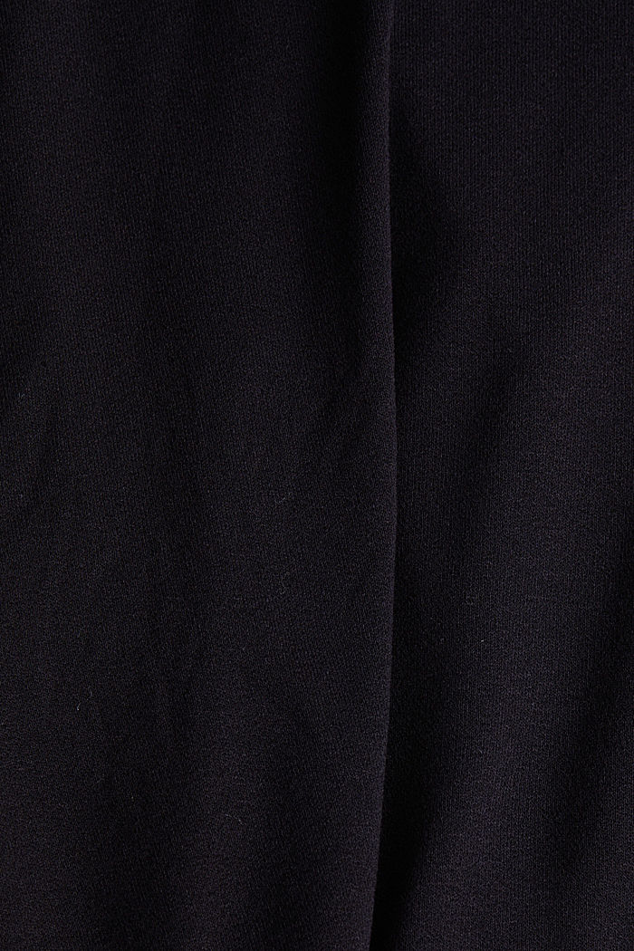 Long sleeve top with a bow, LENZING™ ECOVERO™, BLACK, detail image number 4