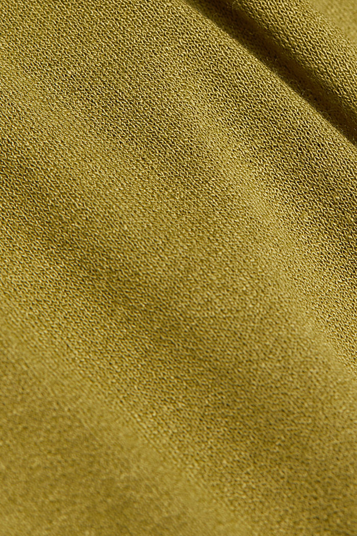 Long sleeve top with a bow, LENZING™ ECOVERO™, OLIVE, detail image number 4