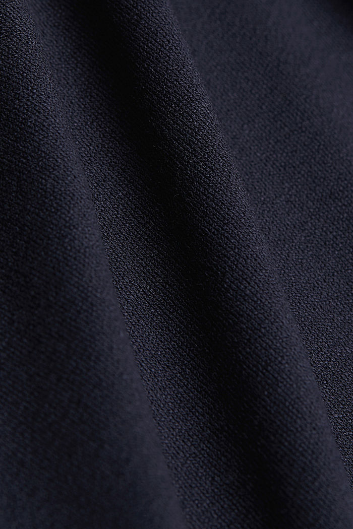 Long sleeve top with a bow, LENZING™ ECOVERO™, NAVY, detail image number 4