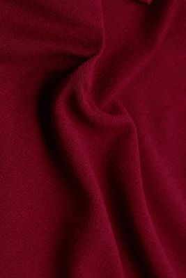 Long sleeve top with a bow, LENZING™ ECOVERO™, BORDEAUX RED, detail