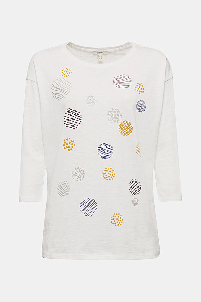 Print-Shirt aus 100% Organic Cotton, OFF WHITE, overview