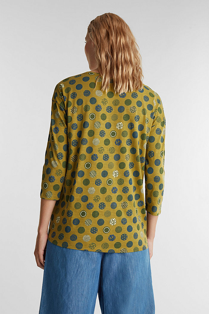 Printed T-shirt in 100% organic cotton, OLIVE, detail image number 3