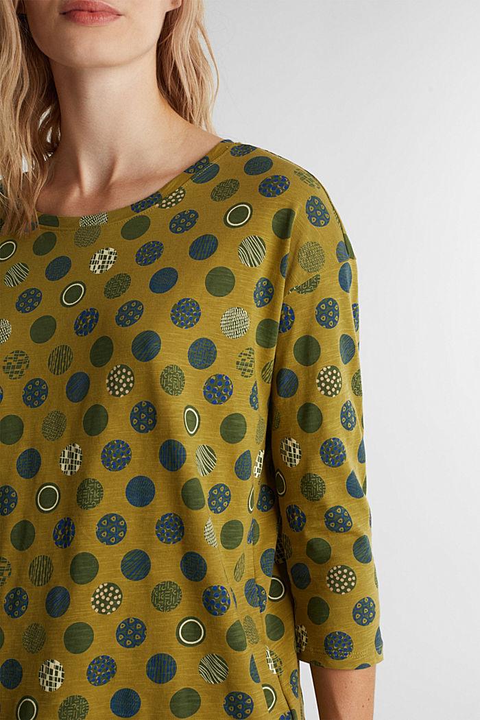 Printed T-shirt in 100% organic cotton, OLIVE, detail image number 2
