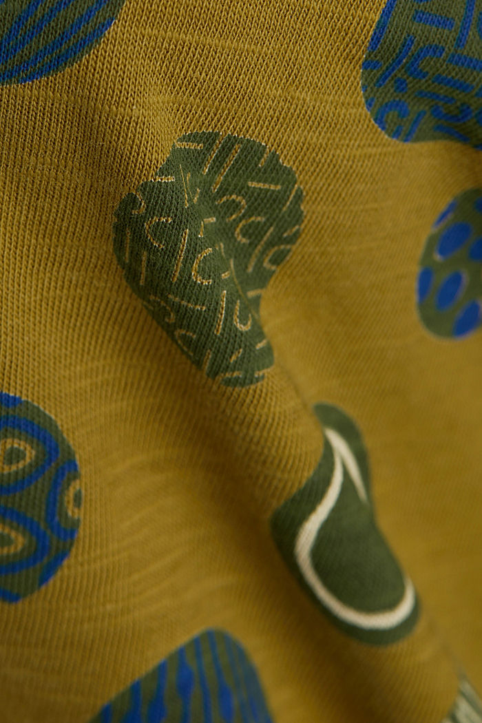 Printed T-shirt in 100% organic cotton, OLIVE, detail image number 4