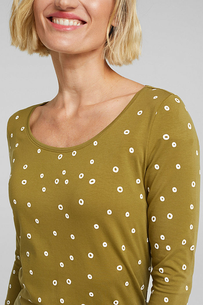 Organic cotton print T-shirt, OLIVE, detail image number 2