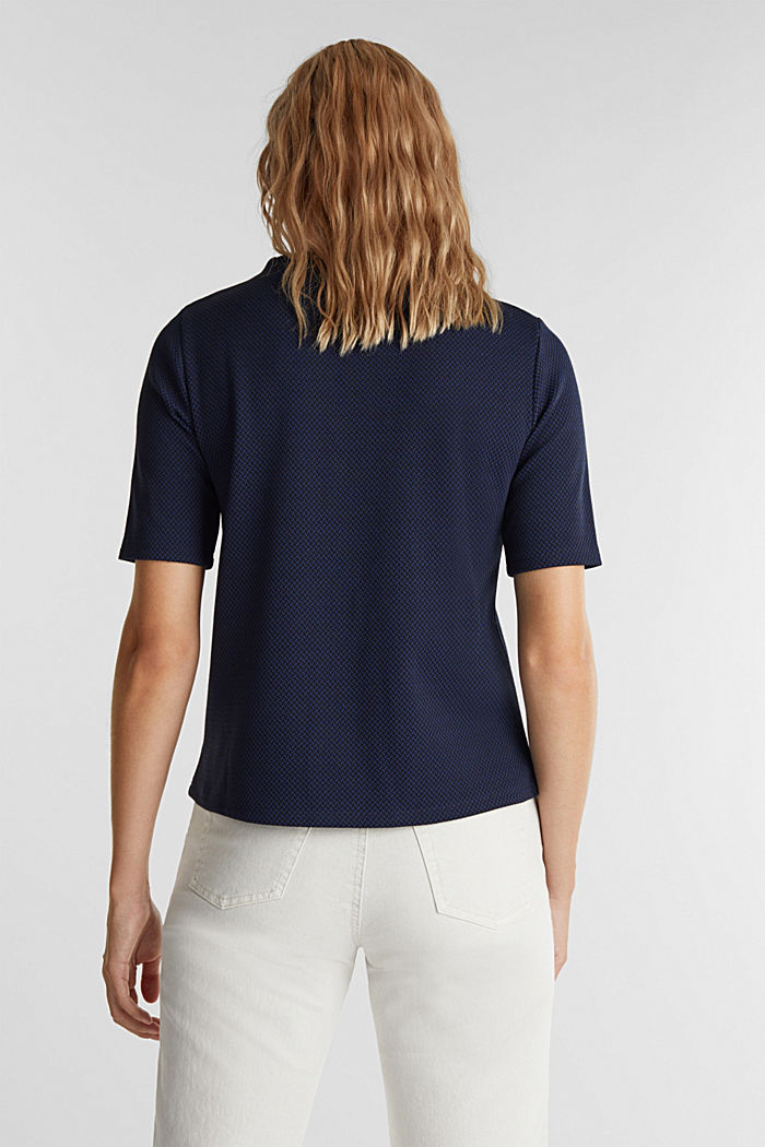 Stretch top with a jacquard pattern, DARK BLUE, detail image number 3