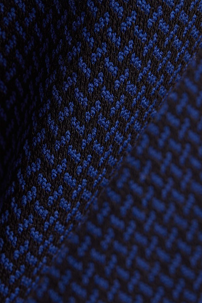 Stretch top with a jacquard pattern, DARK BLUE, detail image number 4