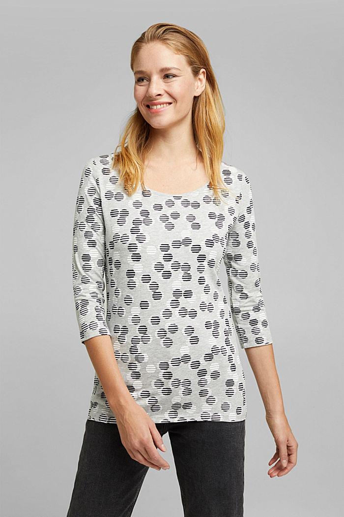 Print-Shirt mit Organic Cotton, LIGHT GREY, detail image number 0